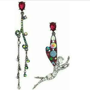 Betsey Johnson  mix matched fairy earrings studs